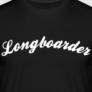 longboarder cool curved logo - Men's T-Shirt