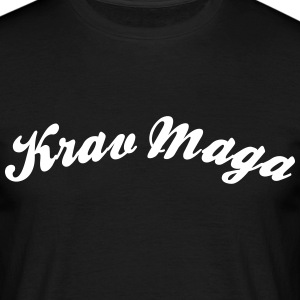 krav maga cool curved logo - Men's T-Shirt
