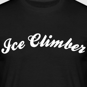ice climber cool curved logo - Men's T-Shirt