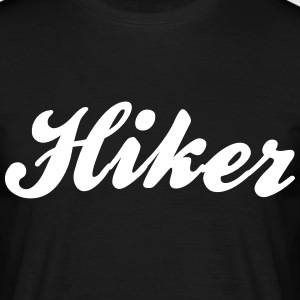 hiker cool curved logo - Men's T-Shirt