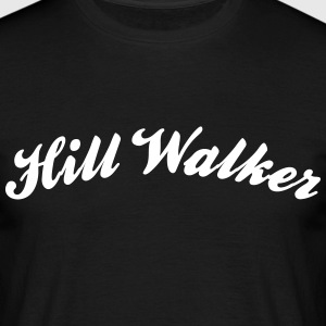 hill walker cool curved logo - Männer T-Shirt