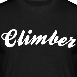 climber cool curved logo - Men's T-Shirt