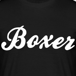 boxer cool curved logo - Men's T-Shirt