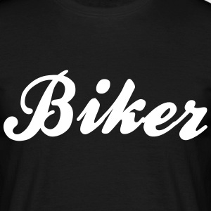 biker cool curved logo - Men's T-Shirt
