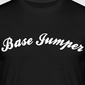 base jumper cool curved logo - Men's T-Shirt