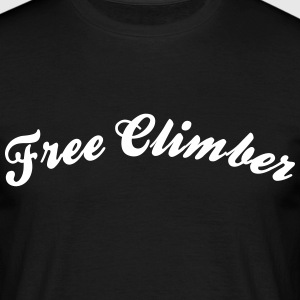 free climber cool curved logo - Men's T-Shirt