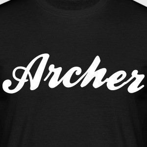 archer cool curved logo - Men's T-Shirt