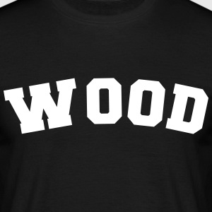 wood name surname sports jersey curved - Männer T-Shirt