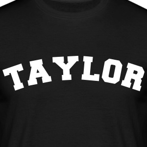 taylor sports name surname jersey curved - Männer T-Shirt