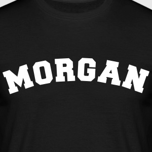 morgan name surname sports jersey curved - Männer T-Shirt