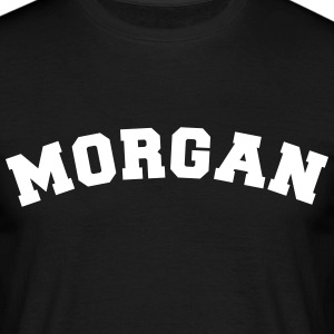 morgan name surname sports jersey curved - Men's T-Shirt