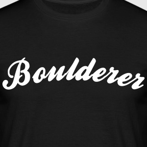 boulderer cool curved logo - Men's T-Shirt