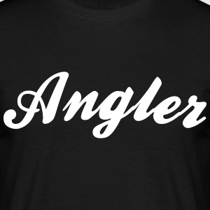 angler cool curved logo - Men's T-Shirt