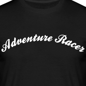 adventure racer cool curved logo - Men's T-Shirt