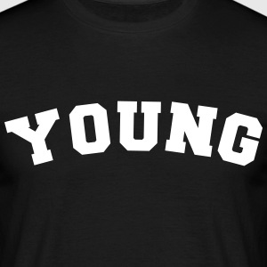 young name surname sports jersey curved - Männer T-Shirt