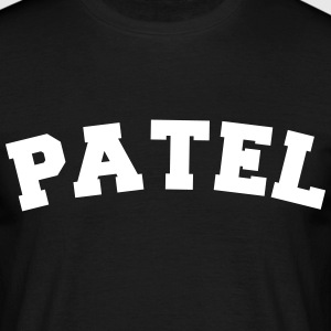 patel name surname sports jersey curved - Männer T-Shirt