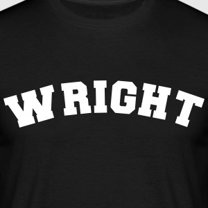 wright name surname sports jersey curved - Men's T-Shirt