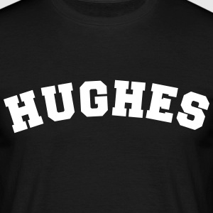 hughes name surname sports jersey curved - Männer T-Shirt