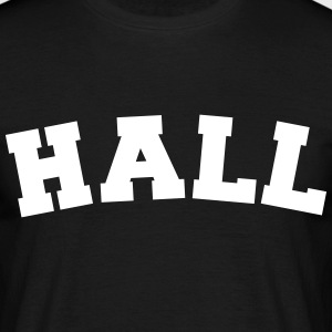 hall name surname sports jersey curved - Männer T-Shirt