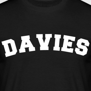 davies name surname sports jersey curved - Männer T-Shirt