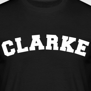 clarke name surname sports jersey curved - Männer T-Shirt