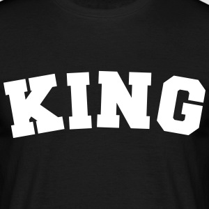 king name surname sports jersey curved - Männer T-Shirt