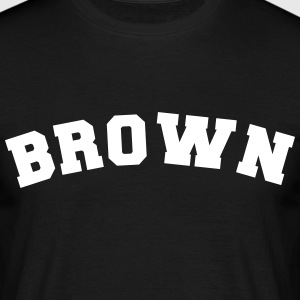 brown sports name surname jersey curved - Männer T-Shirt