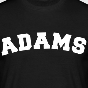 adams name surname sports jersey curved - Men's T-Shirt