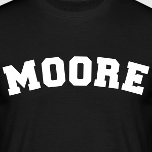 moore name surname sports jersey curved - Männer T-Shirt