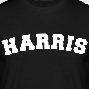 harris name surname sports jersey curved - Männer T-Shirt