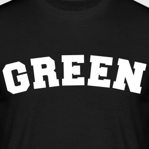 green name surname sports jersey curved - Männer T-Shirt