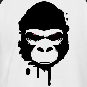 gorilla head Graffiti T-Shirts - Men's Baseball T-Shirt