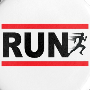 Run, courreur, sportif, course a pied Badges - Badge moyen 32 mm
