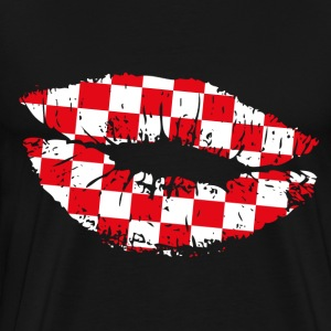 Croatia Kiss Mouth T-Shirts - Männer Premium T-Shirt