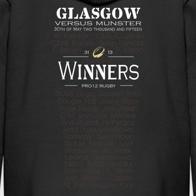 Glasgow PRO12 Winners Glass -KIDS