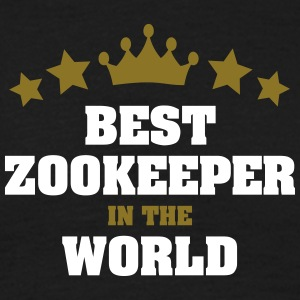 best zookeeper in the world stars crown - Men's T-Shirt