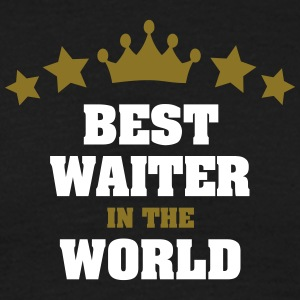 best waiter in the world stars crown - Men's T-Shirt