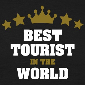 best tourist in the world stars crown - Men's T-Shirt