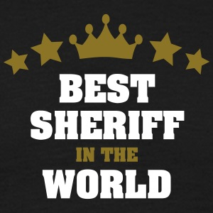 best sheriff in the world stars crown - Men's T-Shirt