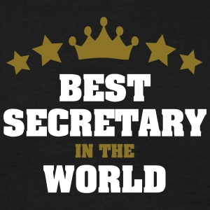 best secretary in the world stars crown - Men's T-Shirt