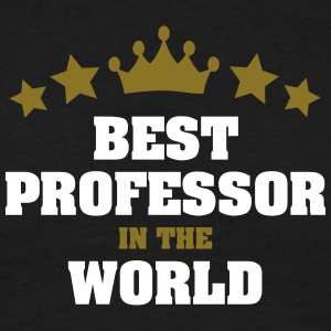 best professor in the world stars crown - Men's T-Shirt