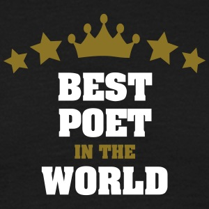 best poet in the world stars crown - Men's T-Shirt