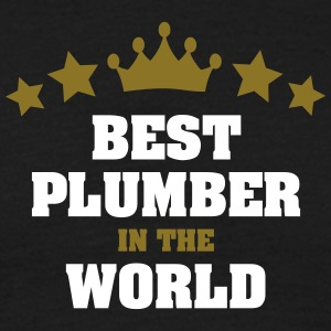 best plumber in the world stars crown - Men's T-Shirt