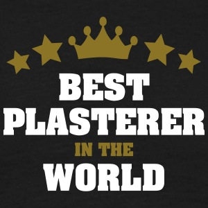 best plasterer in the world stars crown - Men's T-Shirt