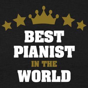 best pianist in the world stars crown - Men's T-Shirt