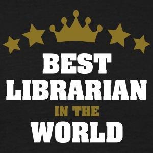 best librarian in the world stars crown - Men's T-Shirt