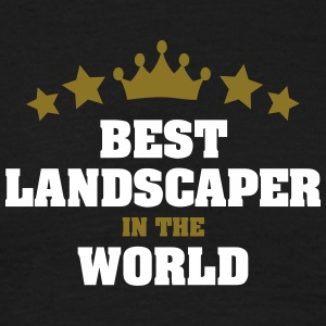 best landscaper in the world stars crown - Men's T-Shirt
