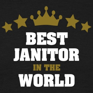 best janitor in the world stars crown - Men's T-Shirt