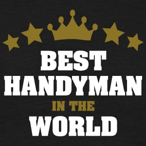 best handyman in the world stars crown - Men's T-Shirt