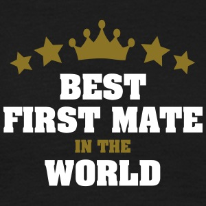 best first mate in the world stars crown - Men's T-Shirt